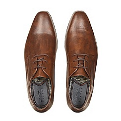 Burton - Tan leather look formal shoes
