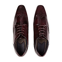 Burton - Burgundy leather look shoes