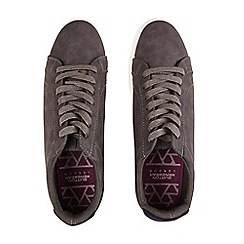 Burton - Grey suede look trainers