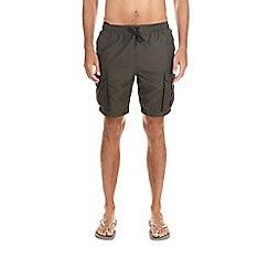 Burton - Khaki cargo swim shorts