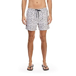 Burton - White paintsplatter swim shorts