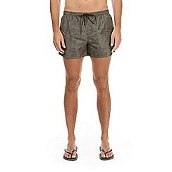 Burton - Khaki camo swim shorts
