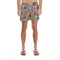 Burton - Multi-coloured stripe floral swim shorts