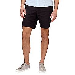 Burton - Black stretch smart chino shorts