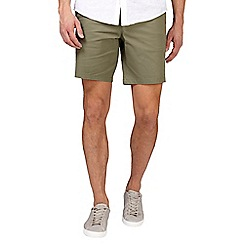 Burton - Khaki stretch smart chino shorts