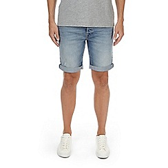 Burton - Light blue distress stretch denim shorts