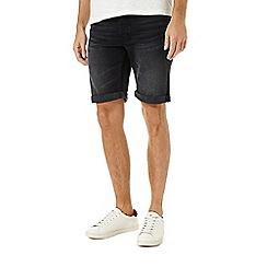 Burton - Washed black stretch denim shorts
