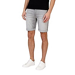 Burton - Light grey stretch denim shorts