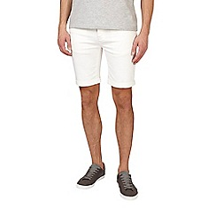 Burton - White stretch denim shorts