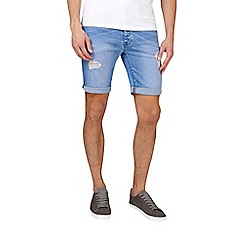 Burton - Hyper blue stretch rip denim shorts