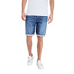 Burton - Mid blue coated denim shorts