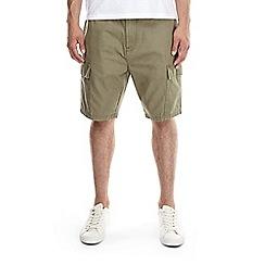 Burton - Khaki utility cargo shorts