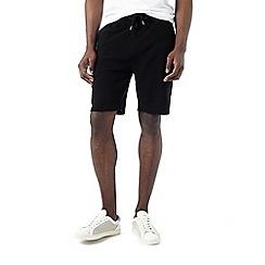 Burton - Black ottoman jogger shorts