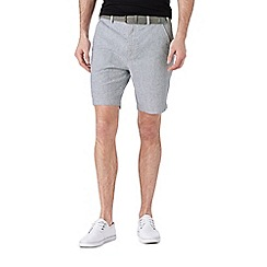 Burton - Light blue belted linen short