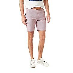 Burton - Pink belted linen shorts