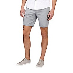 Burton - Grey textured smart stretch shorts
