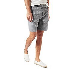 Burton - Grey print belted smart shorts