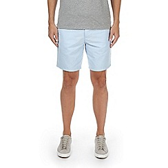 Burton - Light blue oxford belted shorts