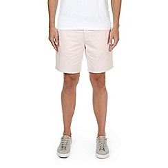 Burton - Light pink oxford belted shorts