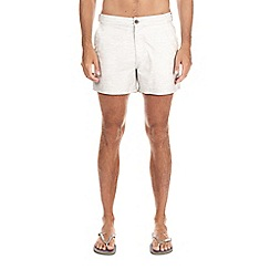 Burton - Light grey marl swim shorts
