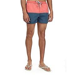 Burton - Coral colour block runner swim shorts