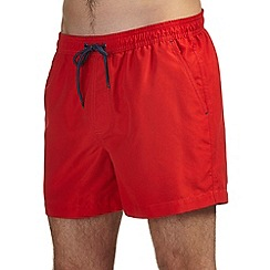 Burton - Red basic swim shorts