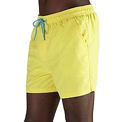 Burton - Yellow basic swim shorts
