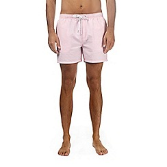 Burton - Pink seersucker swim shorts