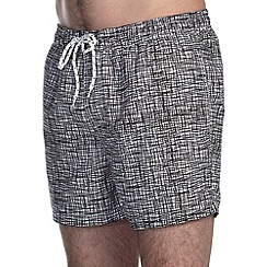 Burton - Monochrome scratch print swim shortd