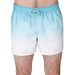 Burton - Turquoise dip dye swim shorts