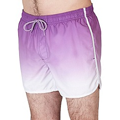 Burton - Purple dip dye swim shorts