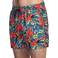 Burton - Floral navy swim shorts