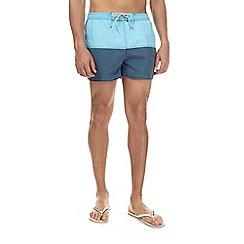 Burton - Light blue colour block runner swim shorts