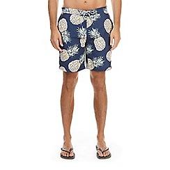 Burton - Blue pineapple print swim shorts