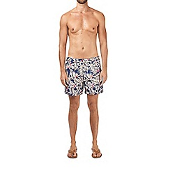 Burton - Palm print riviera shorts