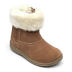 Chipmunks - Girls tan alaska suede boot