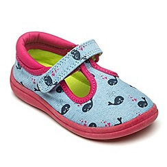 Chipmunks - Girls Amelia denim canvas shoe.