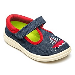 Chipmunks - Boys Anchor navy canvas shoe.