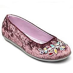 Freestep - Heather mictosuede ladies slipper