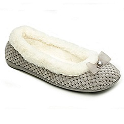 Freestep - Grey textile ladies slippers