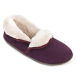 Freestep - Wine suede ladies full slipper