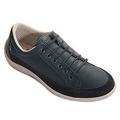 Freestep - Navy 'blossom' ladies lace shoe