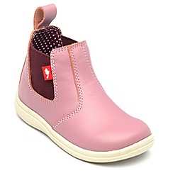 Chipmunks - Girls 'Callie' pink leather ankle boot