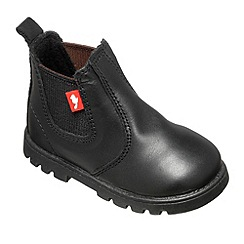 Chipmunks - Boys black 'Calum' ankle boot