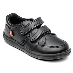 Chipmunks - Boys 'Cameron' black leather school shoe