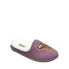 Freestep - Purple textile ladies slipper