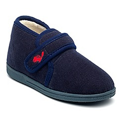 Chipmunks - Boys navy charles slipper