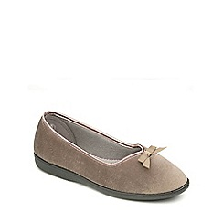 Freestep - Mink velour ladies slipper
