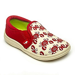 Chipmunks - Boys Conor Crab Red canvas shoe