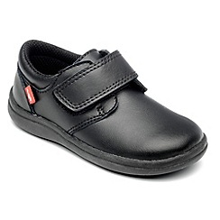Chipmunks - Boys 'Dixon' black leather school shoe